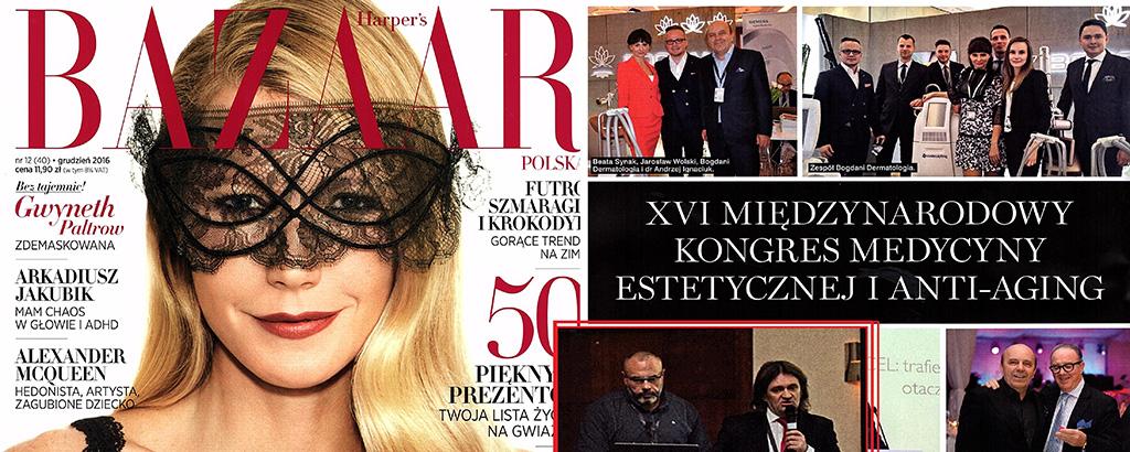 Okładka Bazaar, Międzynarodowy kongres medycyny Estetycznej i anti-aging