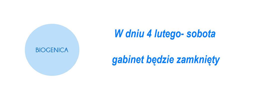 Zamknięte 4 Luty 2017 Biogenica Poznań
