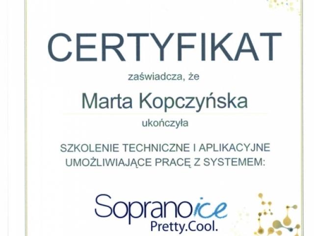 certyfikat-marta-kopczynska-biogenica-poznan